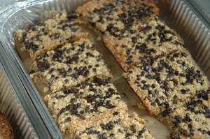 Chocolate chip flapjacks by Suzzle.com